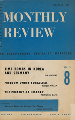 Monthly Review Volume 5, Number 8 (December 1953)