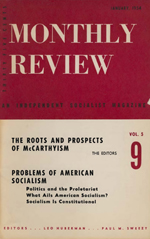 Monthly Review Volume 5, Number 9 (January 1954)