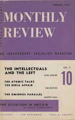 Monthly Review Volume 5, Number 10 (February 1954)
