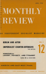 Monthly Review Volume 5, Number 12 (April 1954)