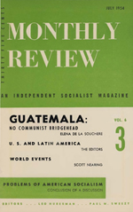 Monthly Review Volume 6, Number 3 (July 1954)