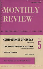 Monthly Review Volume 6, Number 5 (September 1954)