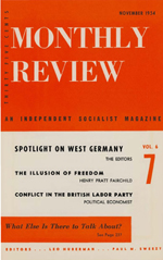 Monthly Review Volume 6, Number 7 (November 1954)