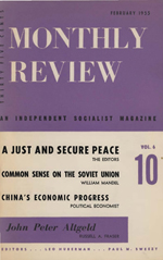 Monthly Review Volume 6, Number 10 (February 1955)