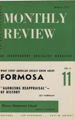 Monthly Review Volume 6, Number 11 (March 1955)