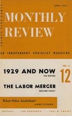 Monthly Review Volume 6, Number 12 (April 1955)