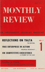Monthly Review Volume 7, Number 1 (May 1955)