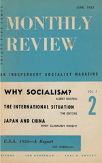 Monthly Review Volume 7, Number 2 (June 1955)