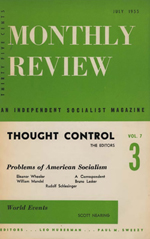 Monthly Review Volume 7, Number 3 (July 1955)