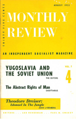 Monthly Review Volume 7, Number 4 (August 1955)