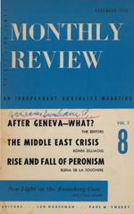 Monthly Review Volume 7, Number 8 (December 1955)