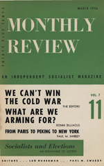 Monthly Review Volume 7, Number 11 (March 1956)
