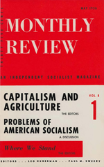 Monthly Review Volume 8, Number 1 (May 1956)