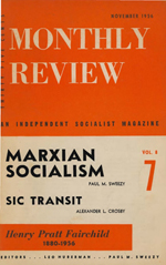 Monthly Review Volume 8, Number 7 (November 1956)