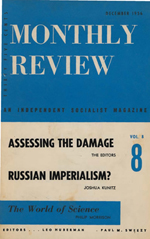 Monthly Review Volume 8, Number 8 (December 1956)