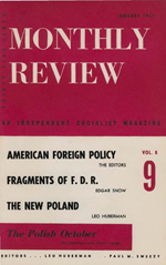 Monthly Review Volume 8, Number 9 (January 1957)