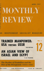 Monthly Review Volume 8, Number 12 (April 1957)
