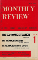 Monthly Review Volume 9, Number 1 (May 1957)