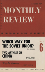 Monthly Review Volume 9, Number 5 (October 1957)