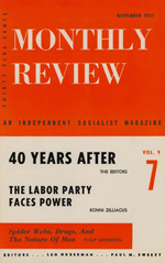 Monthly Review Volume 9, Number 6 (November 1957)