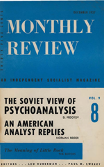 Monthly Review Volume 9, Number 7 (December 1957)
