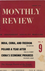 Monthly Review Volume 9, Number 8 (January 1958)