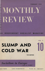 Monthly Review Volume 9, Number 9 (February 1958)