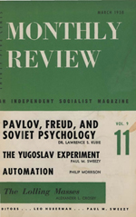 Monthly Review Volume 9, Number 10 (March 1958)