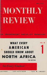 Monthly Review Volume 10, Number 1 (May 1958)