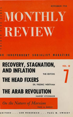 Monthly Review Volume 10, Number 6 (November 1958)