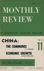 Monthly Review Volume 10, Number 10 (March 1959)
