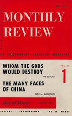 Monthly Review Volume 11, Number 1 (May 1959)