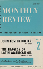 Monthly Review Volume 11, Number 2 (June 1959)