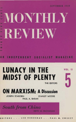 Monthly Review Volume 11, Number 4 (September 1959)