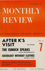Monthly Review Volume 11, Number 6 (November 1959)