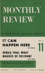 Monthly Review Volume 11, Number 10 (March 1960)