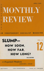 Monthly Review Volume 11, Number 11 (April 1960)