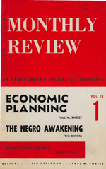 Monthly Review Volume 12, Number 1 (May 1960)
