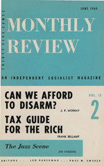 Monthly Review Volume 12, Number 2 (June 1960)