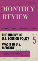 Monthly Review Volume 12, Number 4 (September 1960)