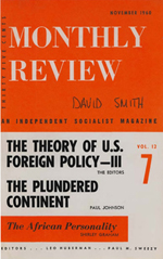 Monthly Review Volume 12, Number 6 (November 1960)