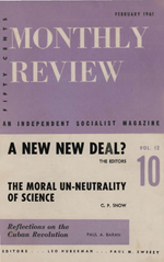 Monthly Review Volume 12, Number 9 (February 1961)