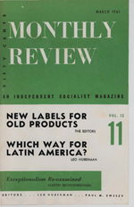 Monthly Review Volume 12, Number 10 (March 1961)