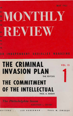 Monthly Review Volume 13, Number 1 (May 1961)