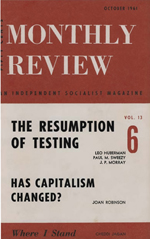 Monthly Review Volume 13, Number 5 (October 1961)