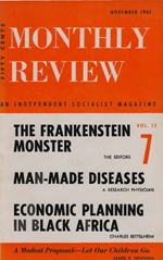 Monthly Review Volume 13, Number 6 (November 1961)