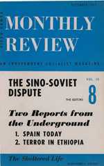 Monthly Review Volume 13, Number 7 (December 1961)