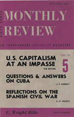 Monthly Review Volume 14, Number 4 (September 1962)