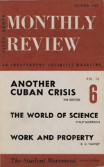 Monthly Review Volume 14, Number 5 (October 1962)