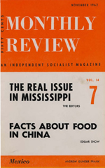Monthly Review Volume 14, Number 6 (November 1962)